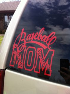 7x6inch Baseball Mom Vinyl Decal by MMVinylDesigns on Etsy, $7.00