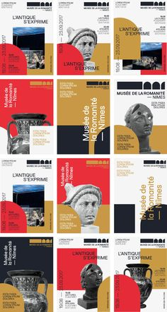 Discover the proposals of visual identities that we submitted to the Museum of Romanité in Nimes. Discover the way the beautiful architecture of the museum! Poster Design Layout, Event Poster Design, Creative Poster Design, Event Posters, Poster Design Inspiration, Print Layout, Creative Posters, Graphic Design Posters, Modern Posters