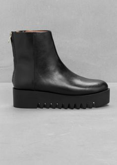& Other Stories | Platform Ankle Boots. Eye-catching ankle boots with a chunky platform and a zip-closure behind the heel.