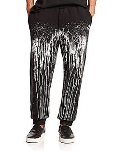 Marcelo Burlon San Lorenzo Cotton Pants - Black - White - Size