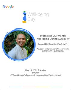 """Lemon GreenTea: Google is holding an online event called """"Well-bei... Mental Health Crisis, Mental Health Awareness Month, Mental Health Advocate, Behavior Change, Coping With Stress, Associate Professor, Public Health, Hold On, Channel"""