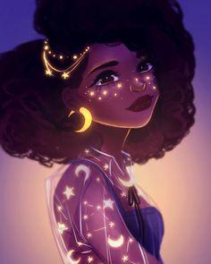 Black Love Art, Black Girl Art, Cute Art Styles, Cartoon Art Styles, Arte Copic, Dibujos Tumblr A Color, Black Girl Cartoon, Female Cartoon, Cartoon Girls