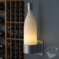 Wine Bottle Wall Sconce at Wine Enthusiast - $99.95 #WineEnthusiast