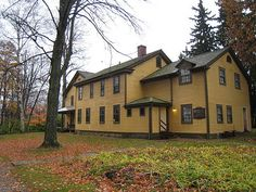 Arrowhead, Herman Melville's historic home in Pittsfield, Mass., in the Berkshires autumn.