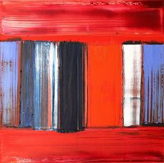 Gillian Lever, 'Fiesta Song', Oil on canvas - by Dreweatts & Bloomsbury #red #painting #abstraction