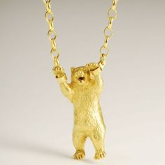 bear in chains necklace