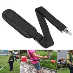Strimmer Shoulder Harness Strap For Brush Cutter&Trimmer W/Carry Hook 175cmX38mm