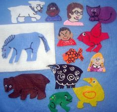 BROWN BEAR, BROWN BEAR WHAT DO YOU SEE FELT BOARD FLANNEL BOARD STORY SET