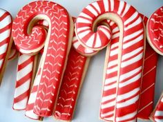 Decorated Candy Cane Cookies