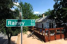 Locals Hot Spot!!   The Rainey Street neighborhood, near the banks of Lady Bird Lake, is attracting locals with homey new bars. Be Yoga, Bungalow, Rainey Street, Art of Tacos, Icenhauer's, Lustre Pearl Bar, Clive Bar, Bahn Bahn, Bar 96, and Whazabi. These places are a must if you are out on Rainy!