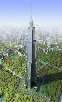 "BSB will be breaking ground on the 838-meter (2,750-foot) ""Sky City"" tower in China's Hunan Province this month, with a seven-month construction timeframe.  La empresa China BSB pretende construir el edificio (prefabricado) más alto del mundo en 7 meses."