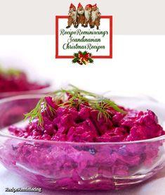 La salade de betteraves #julbord #swedishchristmas #danischristmas #godjul #jul #nordicjul #betterave #rödbetor