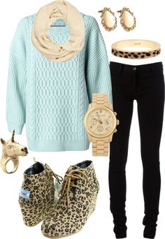 toms wedges - Love the whole outfit!