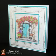 Today's tutorial is all about colouring old, painted wood and I'm using one of my favourite stamps as an example - the rock framed door. Aqua Door, Photo Sequence, Light Colors, Colours, Split Coast Stampers, The Undertones, Sun And Water, Card Making Tutorials, Old Wood