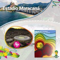 #Brasil2014 || Conoce el Estadio Maracaná + Poster + Ciudad + Partidos que albergará >>http://goo.gl/mOuSW3