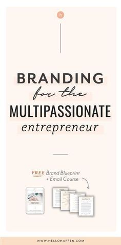 Multipassionate: 3 Tips for Fusing Your Passions into a Cohesive Biz + Brand // Hellohappen -- Branding Your Business, Personal Branding, Business Marketing, Creative Business, Business Tips, Content Marketing, Strategy Business, Identity Branding, Personal Logo