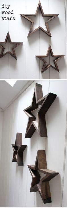 Wooden Stars | DIY Pottery Barn Decor Knock Offs | DIY Pottery Barn Living Room Ideas on a Budget