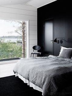 07-2016-interior-asuntomessut-seinajoki-talo-markki-koti-photo-krista-keltanen-14 Beach House, Cottage, Indoor, Bedroom, Interior, Furniture, Home Decor, Photography, Black