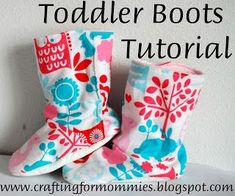 Toddler Boots Tutorial (12-18 Months) | Homespun Aesthetic (with template)