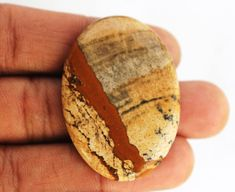 Amazing Quality Picture Jasper Gemstone Cabochon 42x29x5 MM Natural Loose Picture Gemstone for Wirewrapping Ring Pendants Jewelry Supplies http://etsy.me/2CKLicA #supplies #gold #birthday #newyears #oval #beading #brown #picturejasper #cabochons