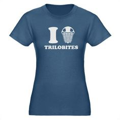 I LOVE TRILOBITES Organic Women's Fitted T-Shirt (