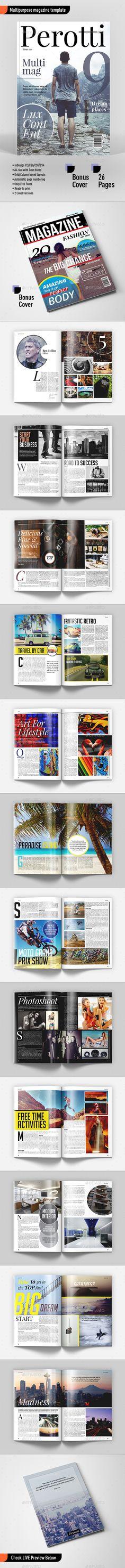 Multipurpose Magazine Template #design Download: http://graphicriver.net/item/multipurpose-magazine-template/11922680?ref=ksioks