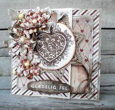 Stempelglede:: Grunge flourish heart. DT Pia Baunsgaard