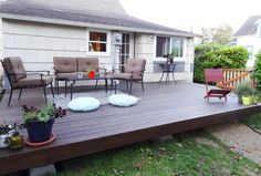 Create a polished outdoor space for entertaining by building a basic DIY platform deck in your own backyard