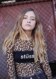 Italic Mesh Crop Leopard | $59.95 #stussy #stussytribeaustralia #leopardmesh #meshtop #sheertop #generalpants