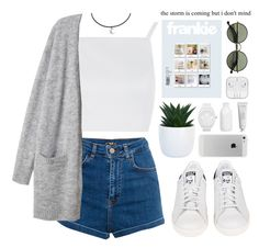 """""""The storm is coming but I don't mind."""" by astoriachung ❤ liked on Polyvore featuring Topshop, Byredo, adidas, Pull&Bear, Crate and Barrel, Ralph Lauren and spring2016"""
