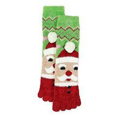 18823ee34 Joe Boxer Girls Holiday Christmas Fuzzy Toe Socks Christmas Stockings