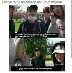 lol that is savage but poor taetae lol I would say the same thing though if it was my brother