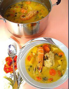 Σούπ(ερ)!!! Υλικά 1-1 1/2 κιλό πεσκανδρίτσα (ή φανάρι) 2-3 μέτριες πατάτες σε κυβάκια 5-6 καρότα σε ροδέλες 1 ματσάκι σέλινο ψιλοκομμένο 1 μ... Greek Recipes, Fish Recipes, Baby Food Recipes, Cooking Time, Cheeseburger Chowder, Thai Red Curry, Yummy Food, Ethnic Recipes, Fish Food