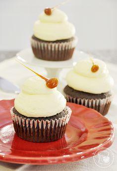 Cupcakes de chocolate e manteiga de amendoim | Cupcakeando