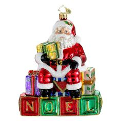 CHRISTOPHER RADKO BLOCK PARTY CHRISTMAS TREE ORNAMENT NWT
