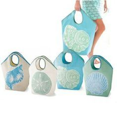 Mud-Pie-Shell-Jute-Tote-Bag-Beach-Market-Overnight-Huge-4-Designs