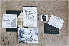 Black and Gold Tailored Engagements Wedding - Paper Envy