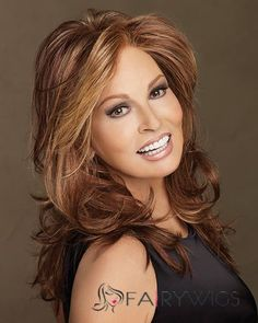 Learn how Raquel Welch lace front wigs make you beautiful. Raquel Welch lace front wig is the oportunity to create any style you want. Rachel Welch, Synthetic Lace Front Wigs, Synthetic Wigs, Star Francaise, Raquel Welch Wigs, Long Wigs, Curly Wigs, Long Curly, Brazilian Hair