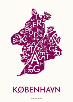 KØBENHAVN - BORDEAUX - 50x70 poster | Kortkartellet