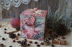 "Купить ""Новогоднее кантри""-Короб - короб для хранения, короб для сладостей, новогодний интерьер, новогодний подарок"