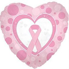 Promise Hope Cure Pink Ribbon Foil Balloon