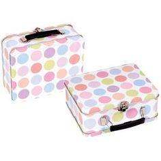 Bobble Art Tin Suitcase - Spot      Price: $12.95   Super sweet tin suitcase by Bobble Art!  Your little miss will love this - featuring spot design, it's the perfect place to stash little treasures and trinkets - looks great as room decor as well!  http://www.littlebooteek.com.au/Christmas-/Stocking-Fillers/Bobble-Art-Tin-Suitcase-Spot/118/1424/productview.aspx