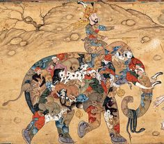 Elephant: Persian painting from around 1600. (Courtesy of the Aga Khan Trust for Culture, Geneva.)