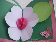 Pop Up Card Honeycomb Flower with tutorial