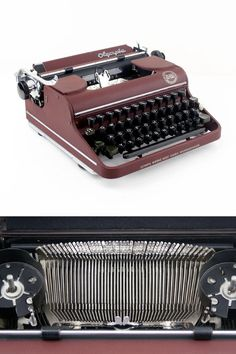 Olympia Orbis SM 1 portable typewriter red 50s by ILikeToType