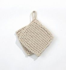 Knitted potholders by Danish brand Ferm Living. I'd love to make these myself.