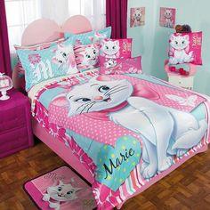 Disney Aristocats Marie Floral Comforter with Sheet Set, Pillow & Shams Girls Bedroom Girls Twin Bedding Sets, Queen Bedding Sets, Luxury Bedding Sets, Crib Bedding Sets, Comforter Sets, Girls Bedroom, Floral Comforter, Girl Bedding, Twin Girls