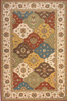 Hybrid area rug that combines the delicate oriental style with intricate Eastern influence