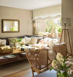 Using a sectional sofa in a small space can look amazing!