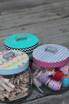 Lovely Little Life: Washi Tape Storage Lids